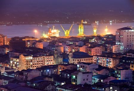Night View of Yangon  Yangon, Myanmar.