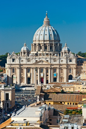 View of San Peter square, Rome, Italy.