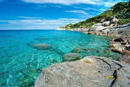 Photo pour Capo Bianco beach, Elba island. Italy. - image libre de droit