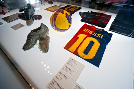 BARCELONA - SPAIN, DECEMBER 19: The FC Barcelona museum inaugurated on 24 September 1984.The museum occupies 3,500 square meters and attracts 1.2 million visitors a year, ranking it second to the Museu Picasso, which attracts 1.3 million visitors. Decembe