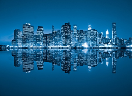 Foto de Aerial view of Manhattan, New York City. USA. - Imagen libre de derechos