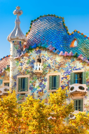 Casa Battlo  also could the house of bones , Barcelona, Spain