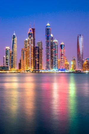 Photo pour Skyscrapers in Dubai Marina. UAE - image libre de droit