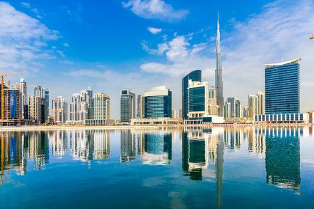 Photo pour Dubai skyline at dusk, UAE. - image libre de droit