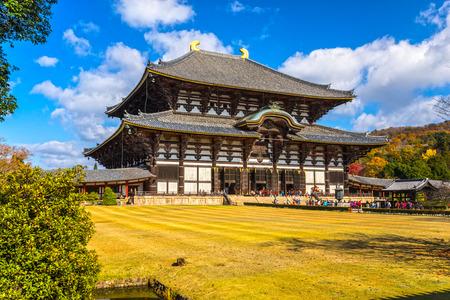 Photo pour Todai-ji temple Main hall, Nara, Japan. - image libre de droit
