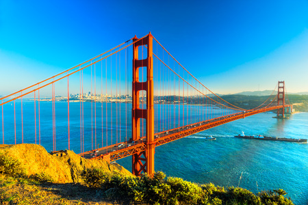 Photo pour Golden Gate Bridge, San Francisco, California, USA. - image libre de droit