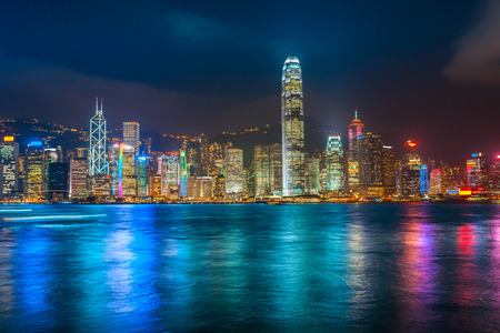 Photo for Panoramic view of Hong Kong skyline. China. - Royalty Free Image