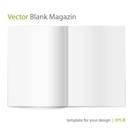 Blank magazine on white background  Template for design
