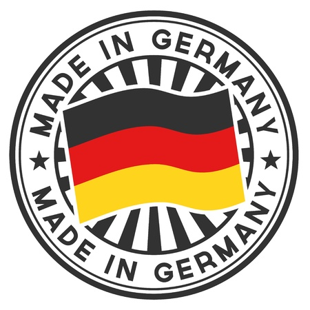 Stamp with flag of the Germany  Made in Germany