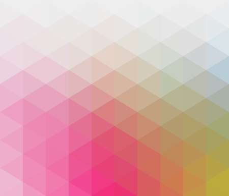 Illustration for Soft pastel colored geometric pattern with triangular elements in red, orange, blue, green, pale shades - Royalty Free Image