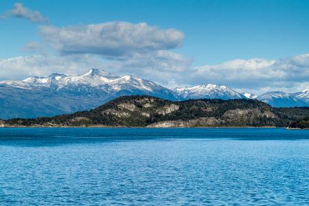 Lapataia bay in National Park Tierra del Fuego, Argentina