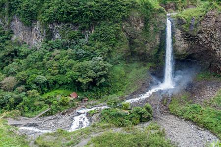 Manto de la Novia (Bridal Veil) waterfall near Banos, Ecuador