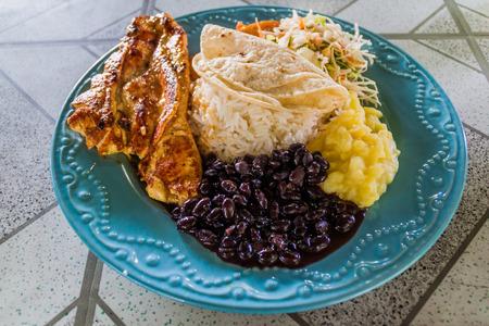 Casado - traditional meal in Costa Rica
