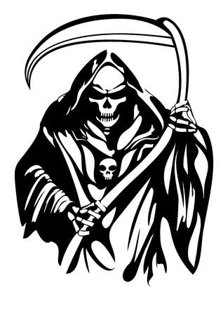 Illustration pour Handamde Grim Reaper Vector Design - image libre de droit