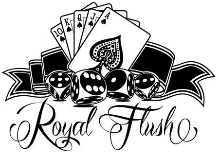 Illustration for Royal Flush Vector Design - Royalty Free Image