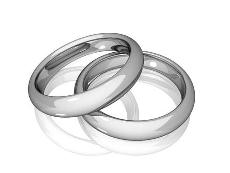 Foto de Wedding - White Golden Rings - Imagen libre de derechos
