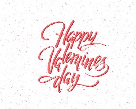 Illustration pour Happy Valentines day, hand written lettering. Romantic calligraphy card inscription. Valentine day - image libre de droit