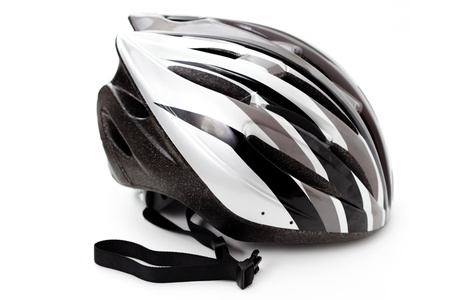 Photo for bicycle helmet isolated on white - sport and leisure - Royalty Free Image