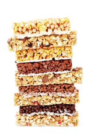 Foto für granola bars on white background - diet and breakfast - Lizenzfreies Bild