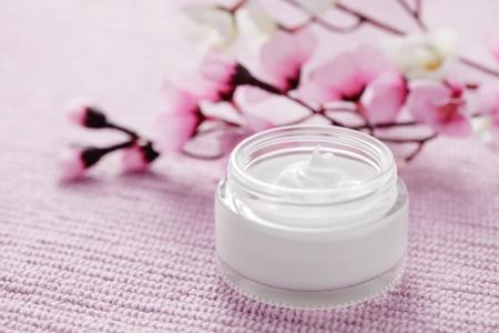 jar of facial cream - beauty treatment