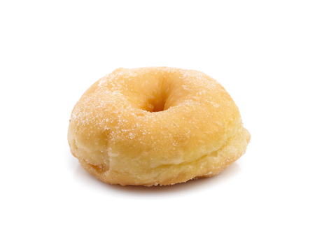 Photo pour Sugar donut isolated on a white - image libre de droit