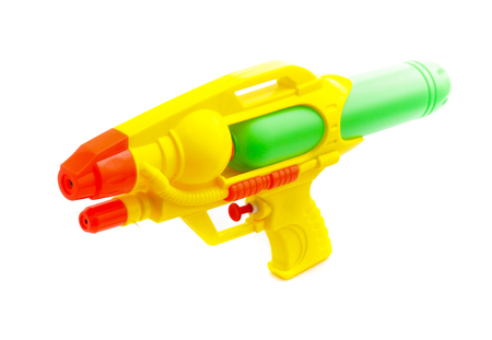 Photo for Plastic water gun isolated on white background - Royalty Free Image