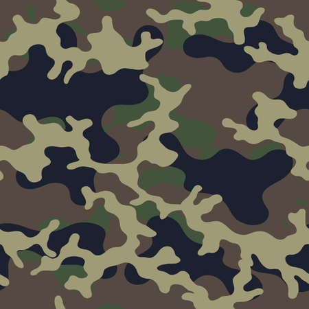 Illustration pour Fashionable camouflage pattern, military print .Seamless illustration - image libre de droit