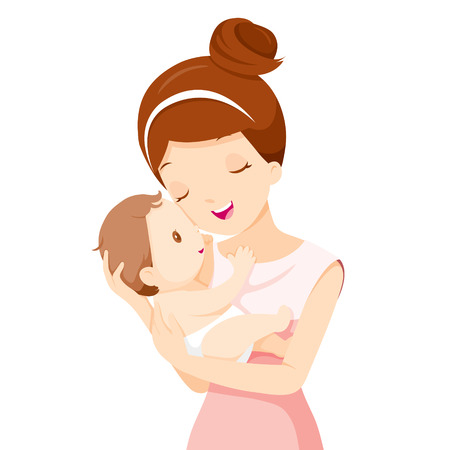Photo pour Baby In A Tender Embrace Of Mother, Mother's day, Mother, Baby, Infant, Motherhood, Love, Innocence - image libre de droit