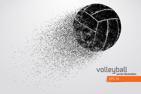 Ilustración de Silhouette of volleyball ball. - Imagen libre de derechos