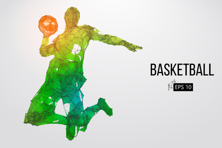Foto de Silhouette of a basketball player. Vector illustration - Imagen libre de derechos