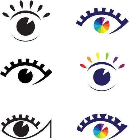 Icons of eyes.