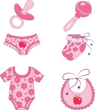 Photo pour Children's clothes and accessories. Element for design vector illustration. - image libre de droit
