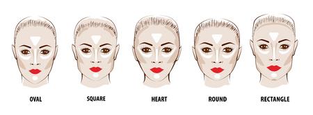 Contour and Highlight makeup.
