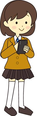 Illustration pour Illustration of the whole body of an exam student - image libre de droit