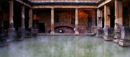 Roman Baths located in the South West of England