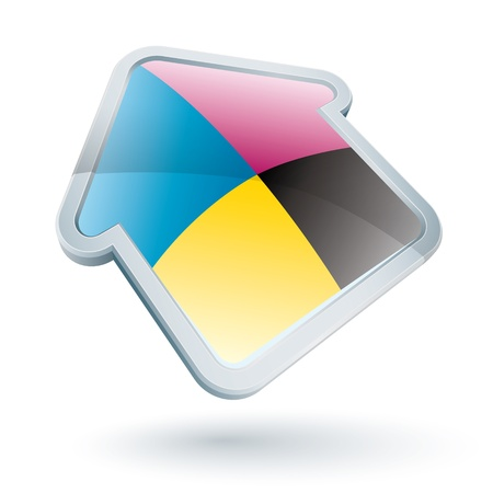 Icon of a cmyk house