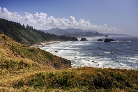 The rugged shore along Oregon's Pacific coast.