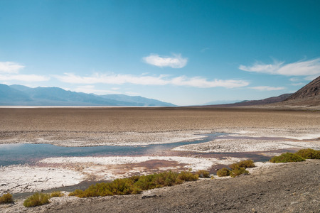Badwater basin on a late afternoon, Death Valley National Park (California).