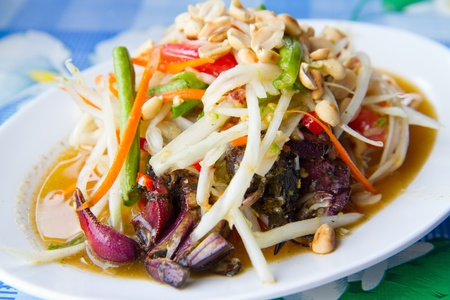 papaya salad with crab