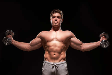 Photo for Sexy muscular fitness man - Royalty Free Image