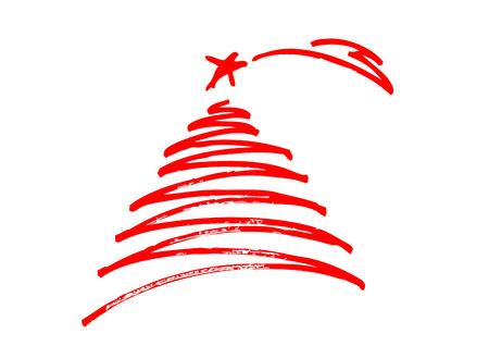 Illustration pour Christmas tree , freehand design - image libre de droit