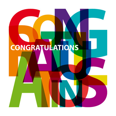 Illustration pour Vector congratulations. Broken text - image libre de droit