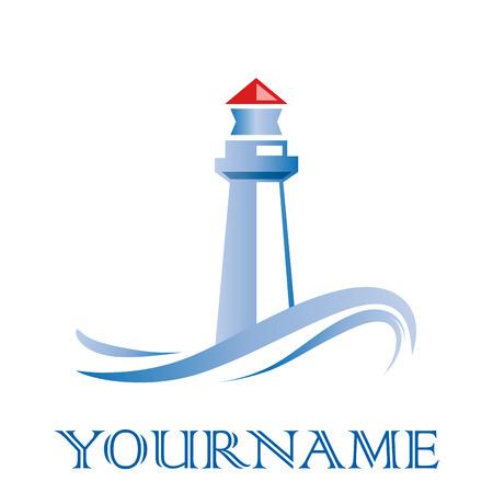 Vector sign lighthouse