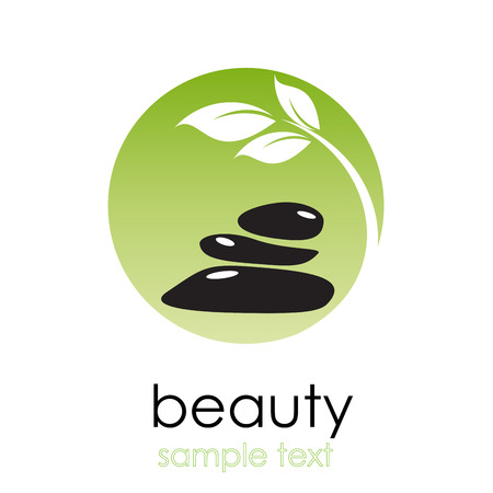 Foto per Vector sign spa. Beauty farm in green - Immagine Royalty Free