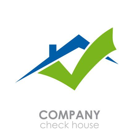Illustration pour Vector sign check house - image libre de droit