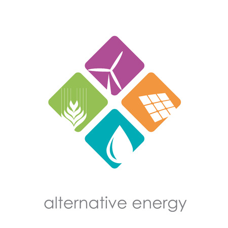 Illustration for Vector sign alternative energy - Royalty Free Image