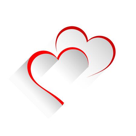 Illustration pour Vector sign two hearts - image libre de droit