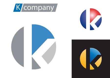 Illustration pour Vector sign spherical letter K - image libre de droit