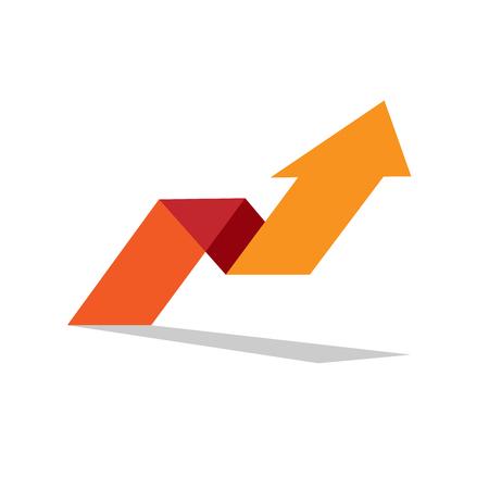 Illustration pour Vector sign arrow up. Concept of innovation - image libre de droit