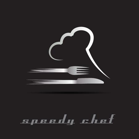 Illustration pour Vector Speedy Chef - image libre de droit